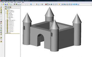 3d modeling castle
